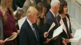 ترامب ونائبه يؤديان الصلاة فى كاتدرائية واشنطن