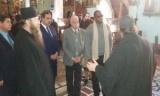 بالصور..رهبان دير سانت كاترين يستقبلون رئيس