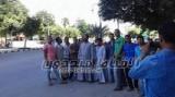 أسرة قبطية كوم اللوف تنظم وقفة أمام مديرية امن المنيا للمطالبة بعودتها
